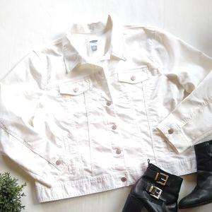 Old Navy • XXL white denim trucker's jacket